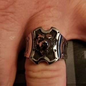 NWT Wolf head Stainless Steel